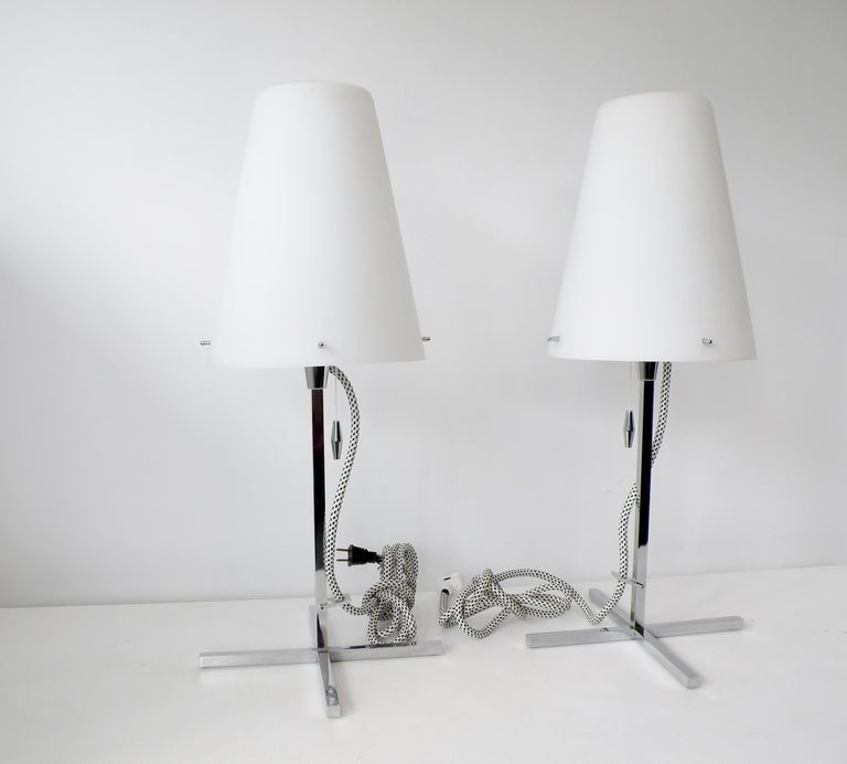 Pair of Nemo Italy Thuban Tavolo Table Lamps In Good Condition For Sale In Denver, CO