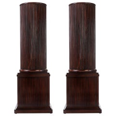 Pair of Neoclassic Column Form Pedestals