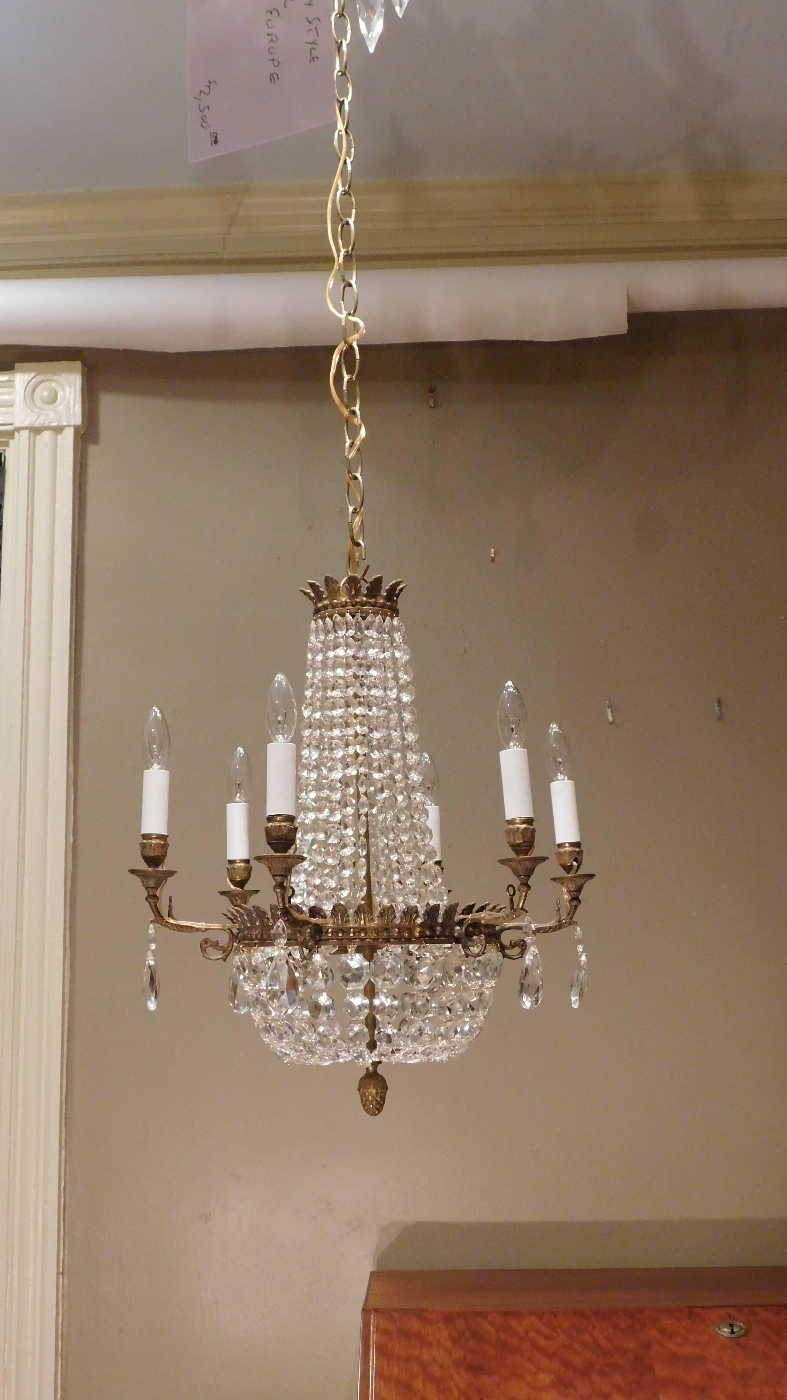 Pair of neo classic style six light bronze chandeliers france pair of neo classic style six light bronze chandeliers france circa 1890 for sale at 1stdibs aloadofball Image collections