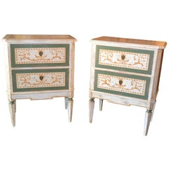 Pair of Neoclassical Painted Chests