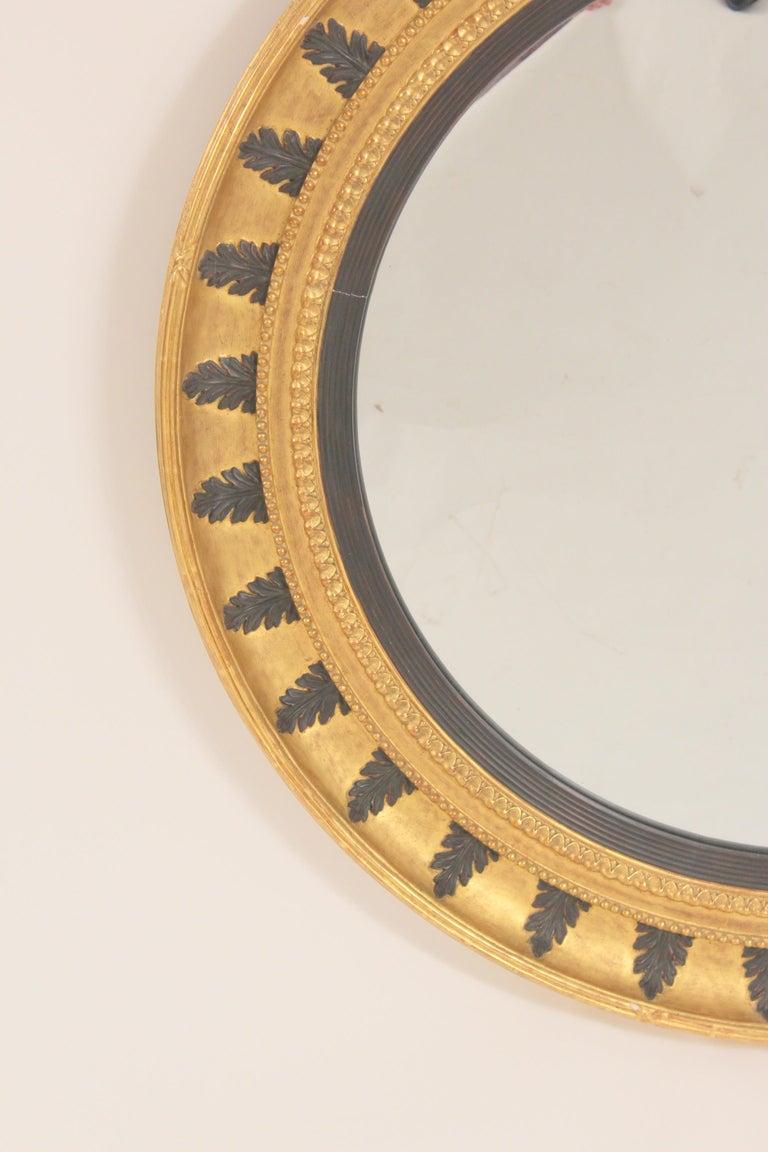 Neoclassical Pair of Neo Classical Style Gilt Wood Bulls Eye Mirrors