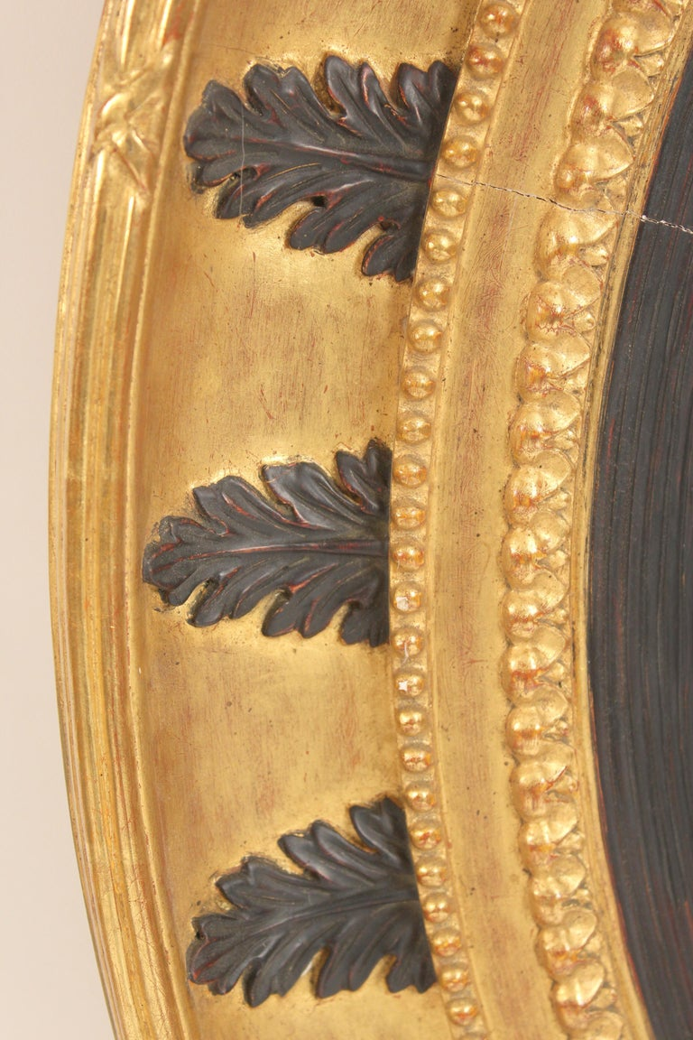 Unknown Pair of Neo Classical Style Gilt Wood Bulls Eye Mirrors