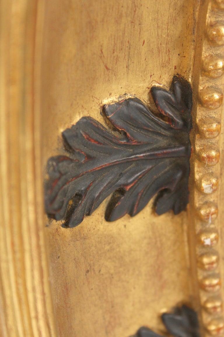 20th Century Pair of Neo Classical Style Gilt Wood Bulls Eye Mirrors