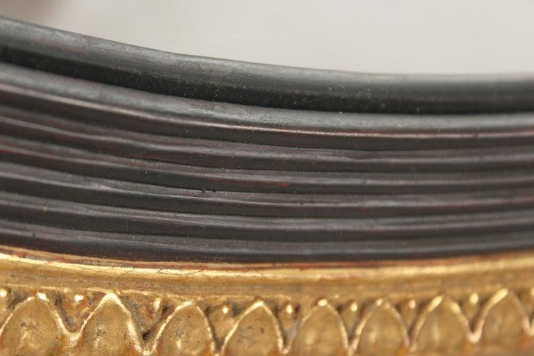 Pair of Neo Classical Style Gilt Wood Bulls Eye Mirrors 1
