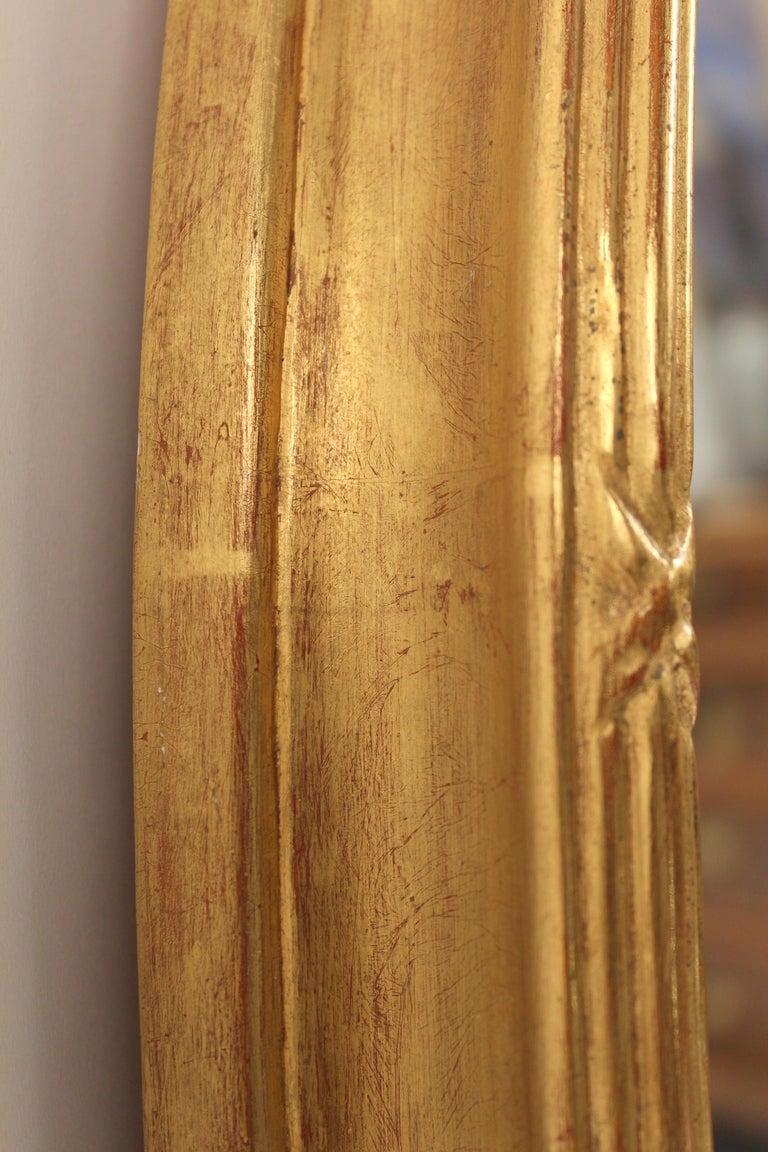 Pair of Neo Classical Style Gilt Wood Bulls Eye Mirrors 2