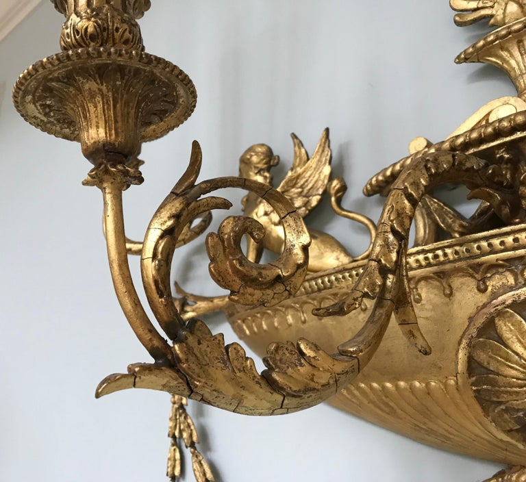 Pair of Neoclassical Wall Sconces In Good Condition For Sale In Manchester, MA