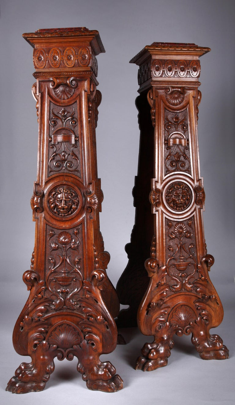 European Pair of Neo-Renaissance Stands For Sale