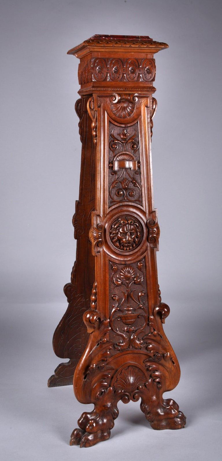 Carved Pair of Neo-Renaissance Stands For Sale