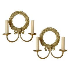 Pair of Neoclassic Bronze Sconces