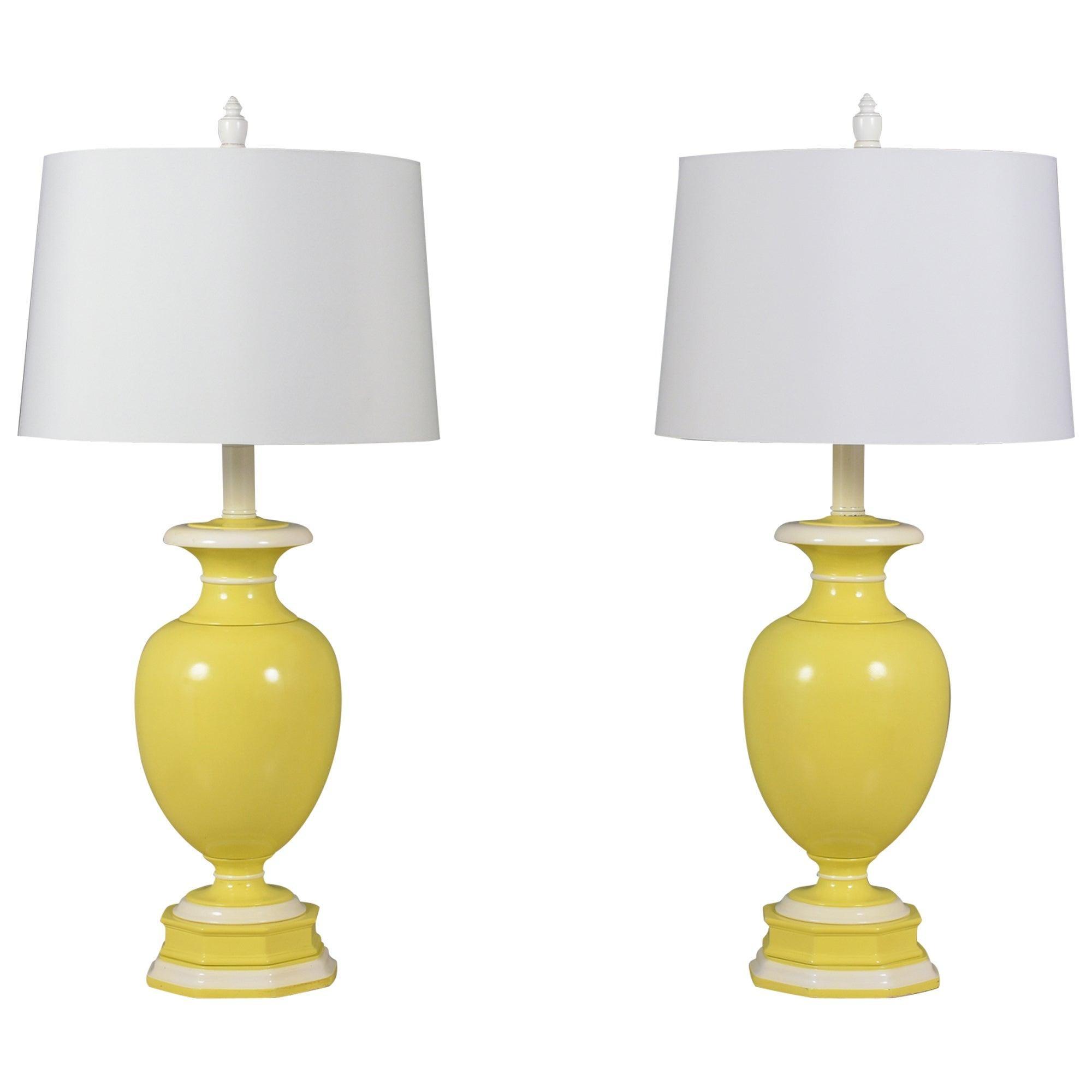 Pair of Neoclassic Ceramic Table Lamps