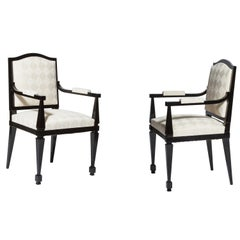 Pair of Neoclassical Armchairs 1940 by André Arbus