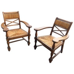 Pair of Neoclassical Armchairs in the Style of André Arbus, circa 1940