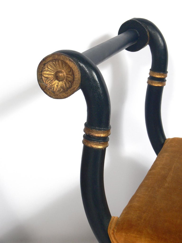 Gilt Pair of Neoclassical Benches For Sale