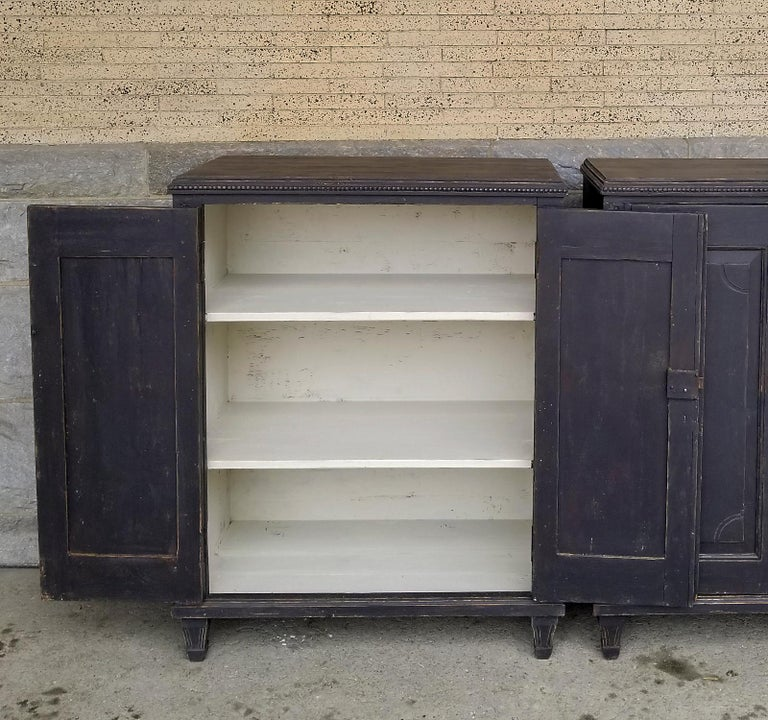 Painted Pair of Neoclassical Cabinets For Sale