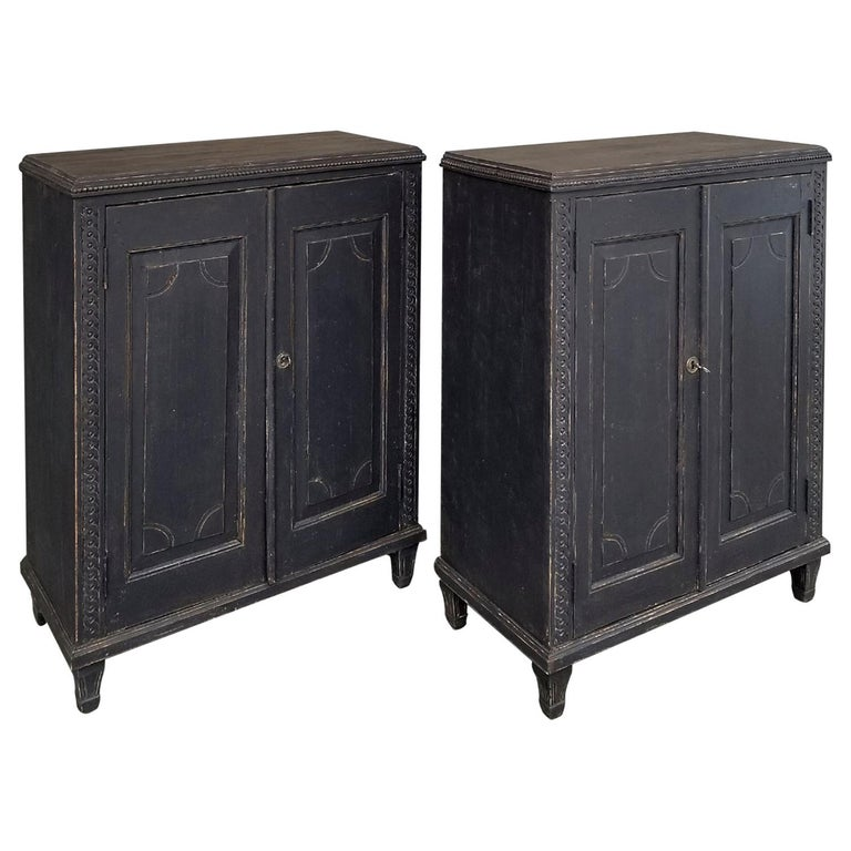 Pair of Neoclassical Cabinets For Sale