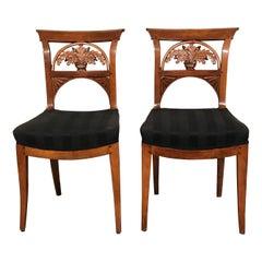 Pair of Neoclassical Chairs, Switzerland, 1820