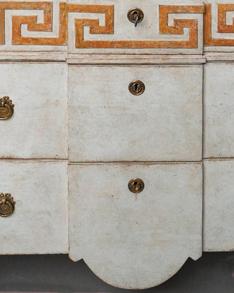 19th Century Pair of Neoclassical Commodes with Greek Key Detail