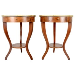 Pair of Neoclassical Drinks Tables by Baker Furniture, USA, 1970s