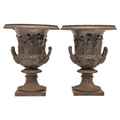 Pair of Neoclassical Garden Urns