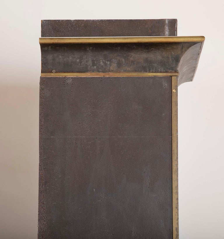 Pair of Neoclassical Style Iron Clad Bookshelves For Sale 6