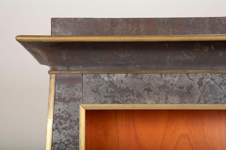 Pair of Neoclassical Style Iron Clad Bookshelves For Sale 10