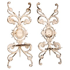 Pair of Neoclassical Iron Wall Planters