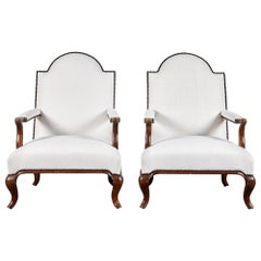 Pair of Neoclassical Italian Chairs