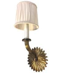 Pair of Neoclassical Madrid Hotel Ritz Bronze Wall Lights, 1920