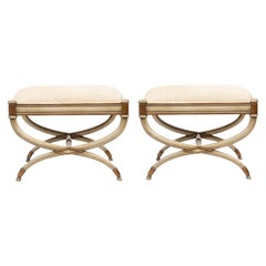 Pair of Neoclassical Painted Benches
