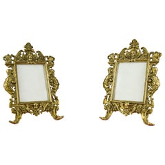 Pair of Neoclassical Style Bronze Photo or Picture Frames, France, 1930s