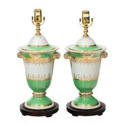 Pair of Neoclassical Style Ceramic Lamps