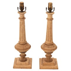 Pair of Neoclassical Style Fluted Lamps
