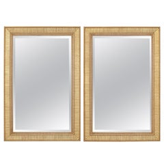 Pair of Neoclassical Style Giltwood Mirrors by Formations