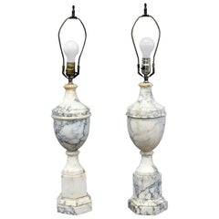 Pair of Neoclassical Style Marble Table Lamps
