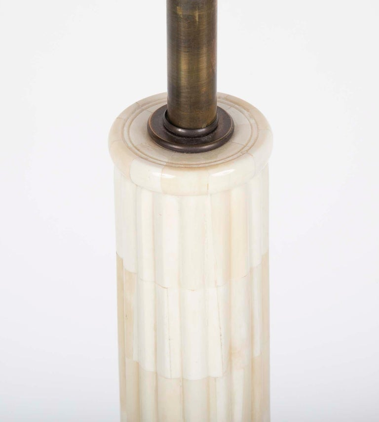 Pair of Neoclassical Style Mid Century Table Lamps on Lucite Bases For Sale 2