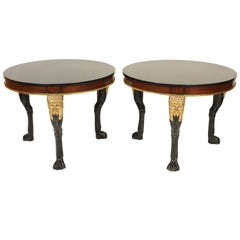 Pair of Neoclassical Style Occasional Tables