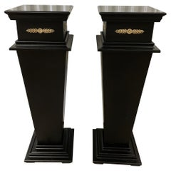 Pair of Neoclassical Style Painted Pedestals