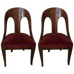 Ein Paar Neoklassischer Spoon Back Stühle, circa 1920