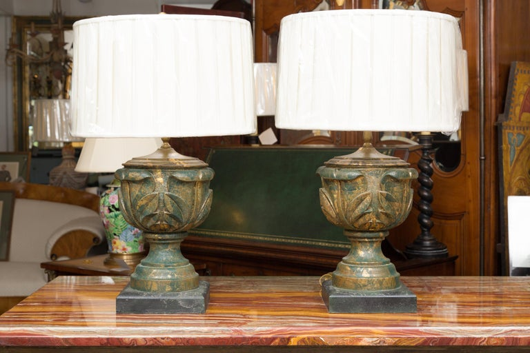 Pair of Neoclassical Table Lamps For Sale 1