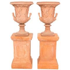 Pair of Neoclassical Terracotta Urns