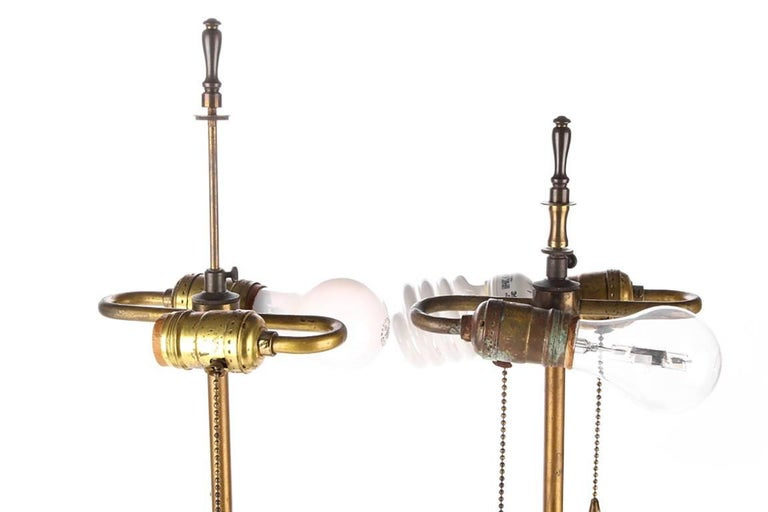 20th Century Pair of Neoclassical Tole Urn Form Lamps For Sale