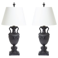 Pair of Neoclassical Urns Mounted as Table Lamps