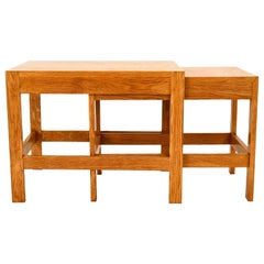 Pair of Nestling Tables Børge Mogensen Silkborg Oak, Denmark, 1960s