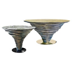 Pair of New Design Dining Tables 'Large and Smaller'