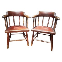 Pair of New England Painted Windsor Chairs