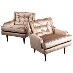 Pair of Newly Upholstered Thayer Coggin Armchairs