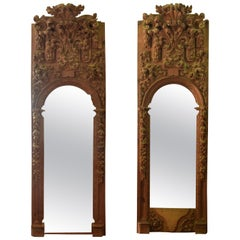 Pair of Niches, Pinewood, 17th Century