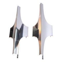 Pair of Nickel-Plated Wall Sconces by Doria, Germany, 1960s