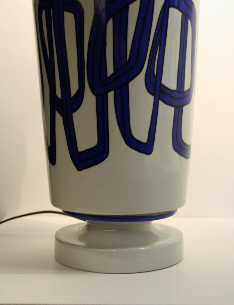 Pair of French Ceramic Table Lamps from Nicolas Blandin In Good Condition For Sale In Belgium, BE