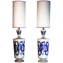 Pair of Nicolas Blandin Ceramic Table Lamps